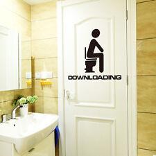 Download in corso Zona Adesivo murale WC Stanza da bagno Porta Toilette 10 16CM