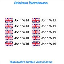 10 Small CYCLE BIKE FRAME HELMET Personalised name Decal Vinyl Durable Stickers