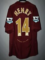 ARSENAL 2005/2006 HIGHBURY HOME FOOTBALL SHIRT JERSEY NIKE #14 HENRY SIZE L