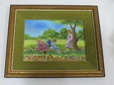 Vintage PAINTING ENAMEL ON COPPER, Signed by BELLIARD