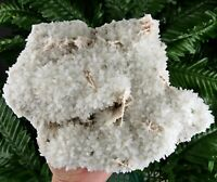 Amazing Big Milky Quartz with Paper Calcite and very interesting Back Side