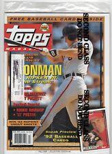Topps Magazine Fall 1991 Cover: Cal Ripken Jr. With Promo Baseball Cards