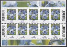 BRD/Bund Zehnerbogen 3315 Hasenglöckchen mit EAN-CODES postfrisch (N-087)