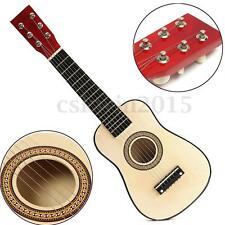 """23"""" Red Wooden Beginners Practice Acoustic Guitar w/ 6 String For Children Kids"""