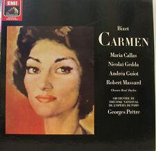 BIZET CARMEN MARIA CALLAS GEDDA GUIOT MASSARD GEORGES PRETRE 2 LP BOX (d600)