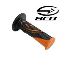 Poigné BCD Noir Orange KTM guidon Scooter Moto Bike poignée Grip handlebar Black
