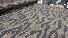 "Woodlands Vintage Tiger Stripe Ripstop 6.25 oz Cotton Fabric 64""W Fabric Camo"