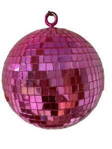 "pink disco ball  7"""