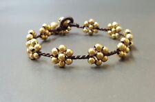 Flower Brass Bracelet, Flower Bracelt,Brass Bracelet