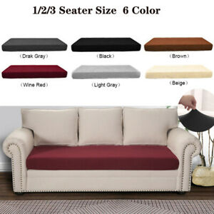 Fabric Stretchy Slipcovers Protector Sofa Seat Cushion Couch Loveseat Protection