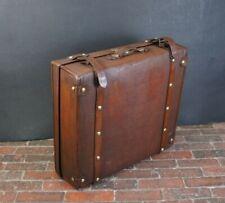 Large English Vintage Military Shirt Suitcase Very Unusual Size