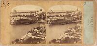 Italia Venezia Panorama c1860 Foto Po' di Tempo & Tournier - Vintage Albumina