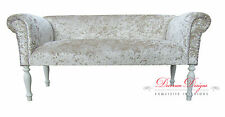 Gorgeous 2 Seater Crushed Mink Velvet Traditional Style Sofa