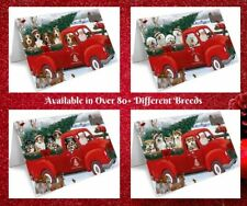 Christmas Santa Express Delivery Red Truck Greeting Cards, Dogs, Cats, Pet cards
