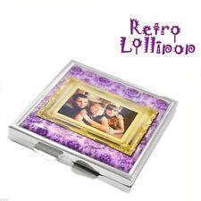 Retro Lollipop Contemporary Personalised Photo Handbag Mirror - XHMRL007