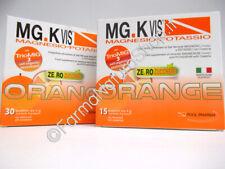 MG.K Vis Magnesio-Potassio con Creatina ORANGE SENZA ZUCCHERO ►PROMO 30+15BUSTE◄