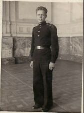 1951 Handsome young teen boy man jock Cadet school parade uniform Russian photo