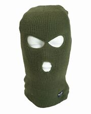 KOPFHAUBE BALACLAVA 3-LOCH THINSULATE™OLIV POLIZEI SEK KSK SOC MILITARY