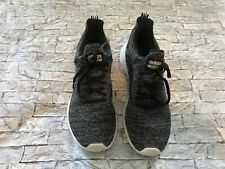 Men's Adidas Size 9 Cloadfoam Black Tenny Shoes Pre-owned