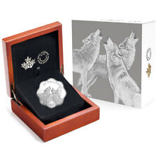 2017 Canada Master of the Land - Timber Wolf Scalloped Silver Proof $20 SKU50708
