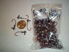 1/16oz #2 Round Head Lead Head Jig Eagle Claw Lil Nasty Sickle - Red 100ct