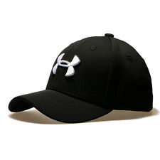 Under Armour Branded Baseball Cap Men Fitted Cap Women Embroidery Dad Hat Black