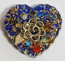 Orgone pendant necklace - EMF protection, Tesla, chakra + free orgone gift