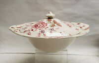 JOHNSON BROTHERS China - ROSE CHINTZ Pattern - ROUND COVERED SERVING BOWL