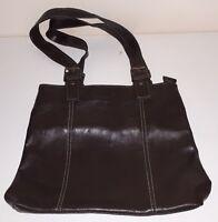 EDEL Damen Leder Schulter Hand Tasche Braun Schick Bag Ladies Damentasche Neu