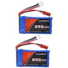 2Pcs ENGPOW 7.4V 2S 850mAh 30C JST Plug Rechargeable LiPo Battery for RC Car G