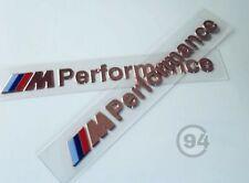 2x Stickers Autocollants Logos BMW M Performance Emblème Logo Motorsport