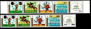 Olympic Turkmenistan 1992-93 2 strips of stamps Mi#15-19,25-29 MNH CV=11€