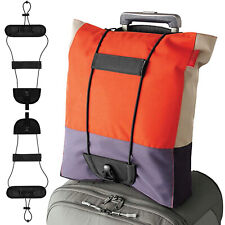 2pk Travel Luggage Suitcase Adjustable Tape Belt Add A Bag Strap Carry On Bungee