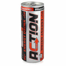 96 Dosen a 0,25L Action Energy Drink Dose 24 Liter Energie Taurin Energiedrink