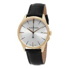 Alexander A911-07 Heroic Sophisticate Swiss Ronda 715 Date Leather Mens Watch
