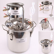 Home Use 2GAL/10L Stainless Moonshine Still Water Alcohol Distiller Oil Brew Kit