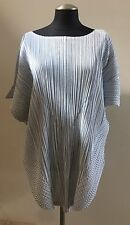 NWOT PLEATS PLEASE ISSEY MIYAKE Short Dolman Sleeve Tunic Top Blouse, Size 5