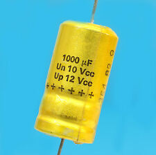 CONDENSATEUR CHIMIQUE AXIAL 1000µF 10V SIC-SAFCO RELSIC  CO33 VINTAGE