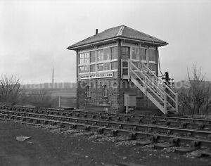 Clayton West Station Signal Box 17.1.81 John Vaughan Negative RN109