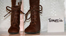 Jasmines Cottage Tomecia Brown Leather Doll Boot MSD 63mm fits Wiggs & Lasher
