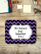Teacher Gifts Personalised Best Teacher Ever Mouse Pad Easy Glide Neoprene