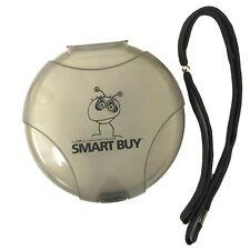 Smartbuy 12 Disc CD DVD Storage Organizer Grey Plastic Holder Case w/Black Strap