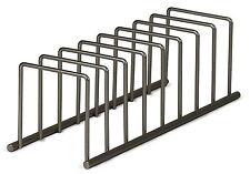 Kitchen Cabinet Lid Plate Dish Organizer Holder Storage  Steel Rack Pantry Shelf
