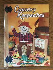 Plastic Canvas Country Keepsakes Hardback Pattern Book - NICE Condition