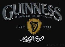 Guinness Beer Brewed In Ireland Beach Bath Towel Established 1759 Black 60x30