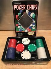 Professional Poker Chips 100 Unmarked / Un-numbered With Dealer Button