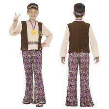 Ragazzi Hippy Costume Hippie 60 S 70 S Costume disco Anni 4-12 Flower Power GO GO