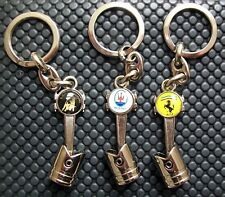 Lamborghini, Ferrari Maserati  high quality piston key chain  NEW