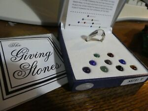 Lucoral Museum - Giving Stones Sterling Silver Ring / Changeable GEM stones T