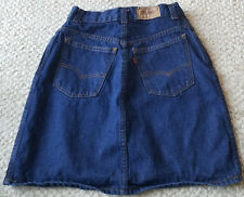VINTAGE LEVI STRAUSS BLUE DENIM SKIRT JUNIOR MISSES SIZE 11 **NEW W/OUT TAGS!**